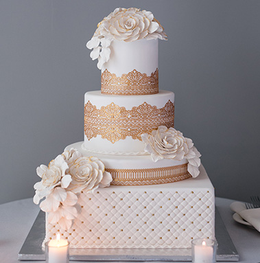 The Brookside Banquets Wedding Cake